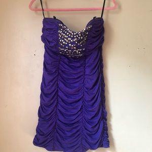 😊2b Bebe Large Womens Purple Club Dress